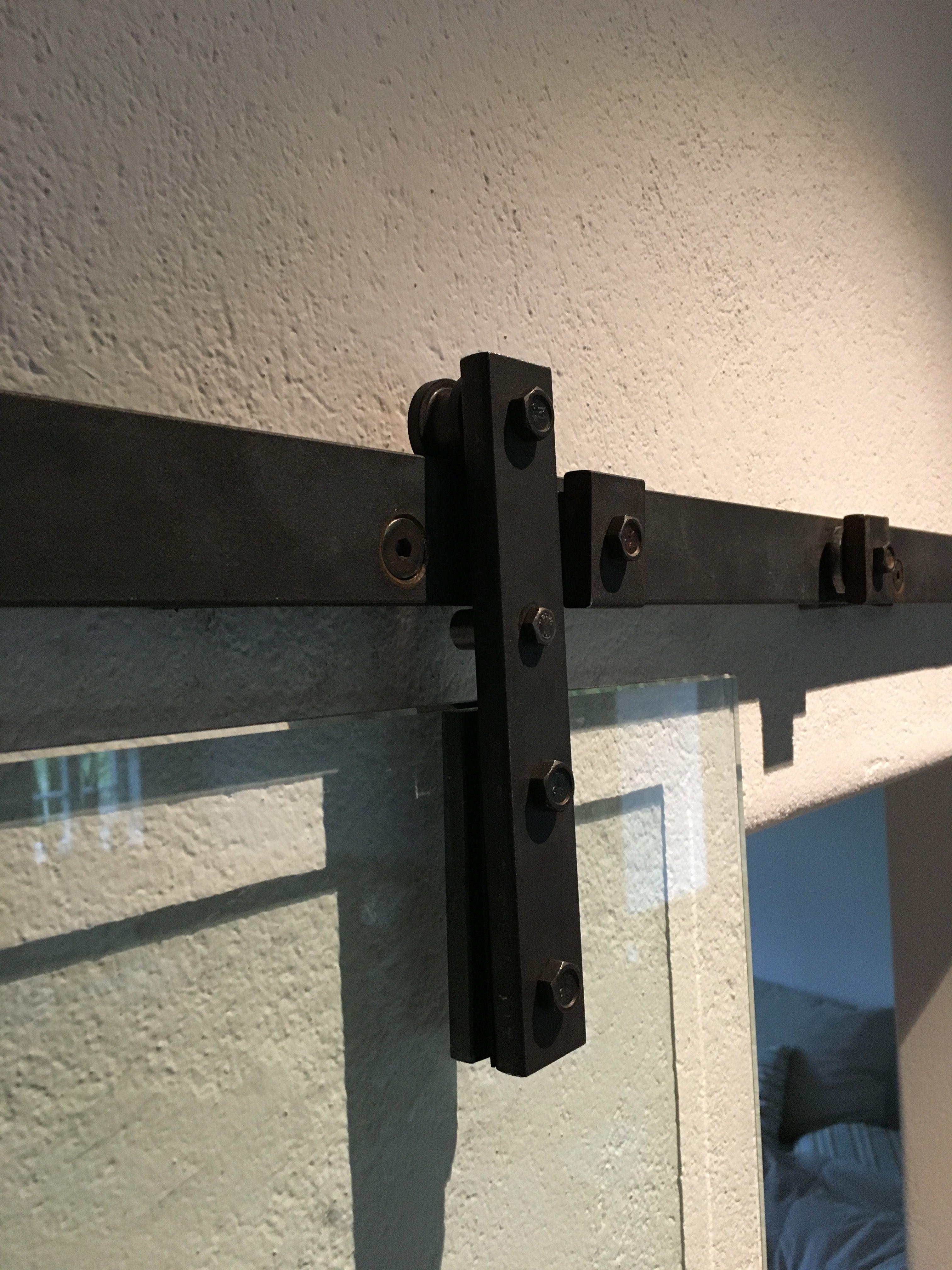 Glasschiebeturen Mit Schiebeturbeschlag Aus Stahl Rostoptik