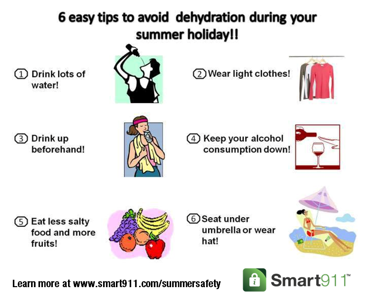 6 easy tips to avoid dehydration this summer. Keep your
