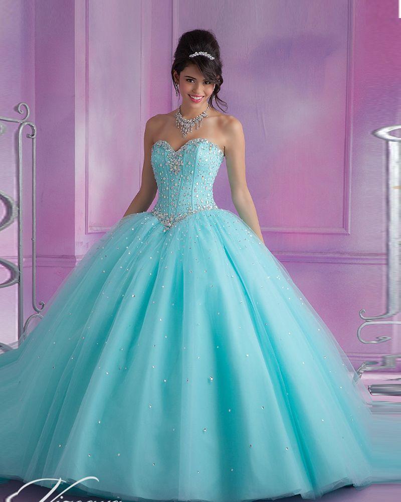 Vestidos De 15 Anos De Debutante Turquoise/Pink Quinceanera Dresses ...