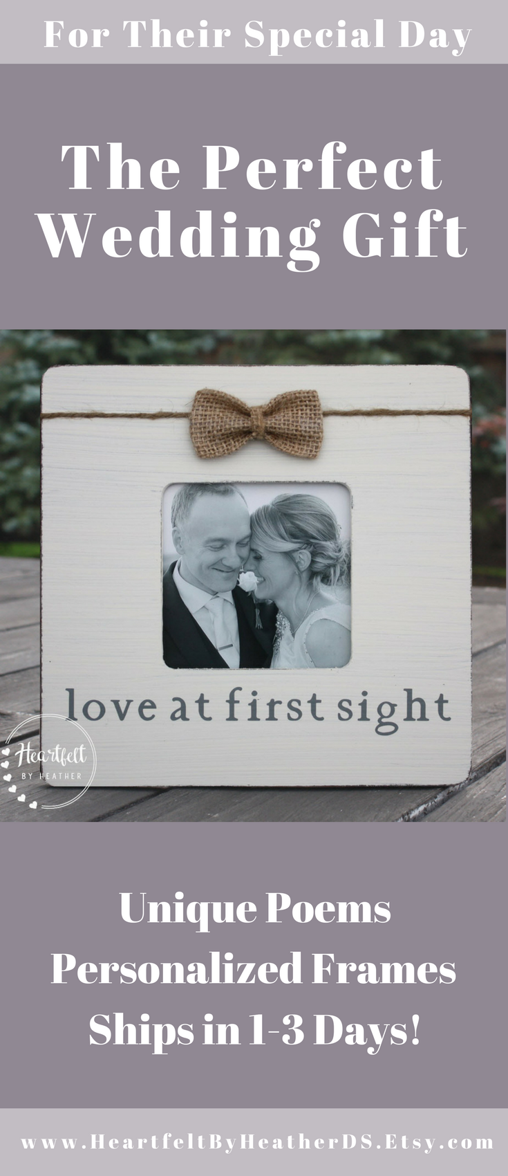Love at First Sight Frame - Custom Picture Frame for Couple ...