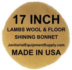 17 Floor Machine Lambs Wool Shining Bonnet Floor Machine Flooring Bonnets