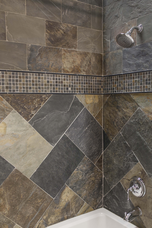 Simple Shower Design Using All Natural Slate Tiles Thetileshop Slate