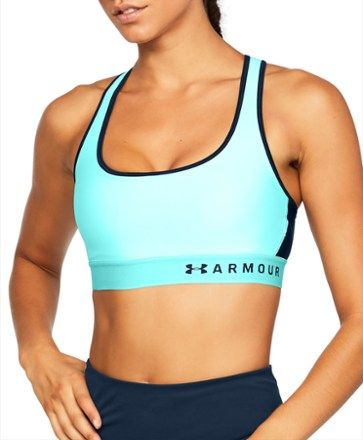 c0f4f2d43 Under Armour Women's Armour Mid Crossback Sports Bra Tropical Tide/Academy  XS Under Armour Women