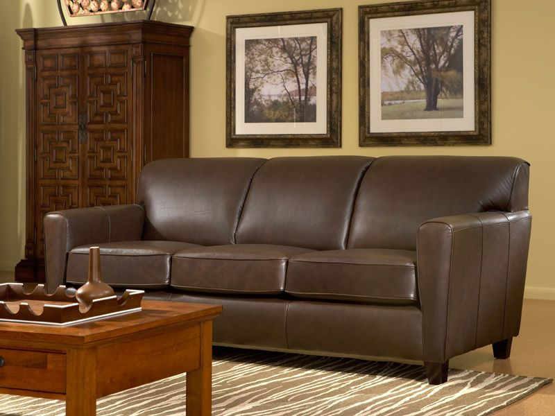 It's the Superbowl party season, so make sure that you have ample seating for all of your hungry house guests (and maybe even a sleeper sofa or two)! || Chestnut Sleeper Sofa furniture.cort.com