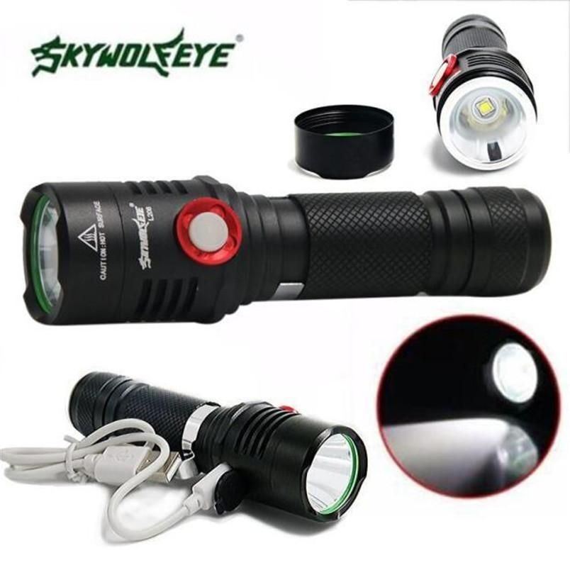 Bicycle Bike Cycling XML-2 USB Rechargeable LED Front Light Lamp 5 Modes