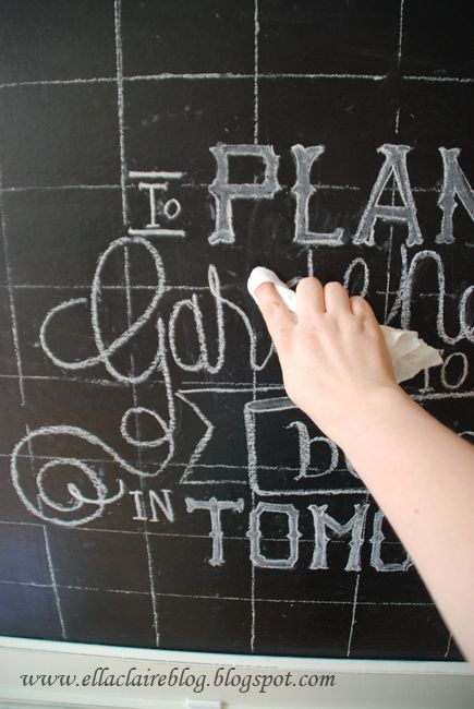 {Simplified} Chalkboard Drawing Tutorial