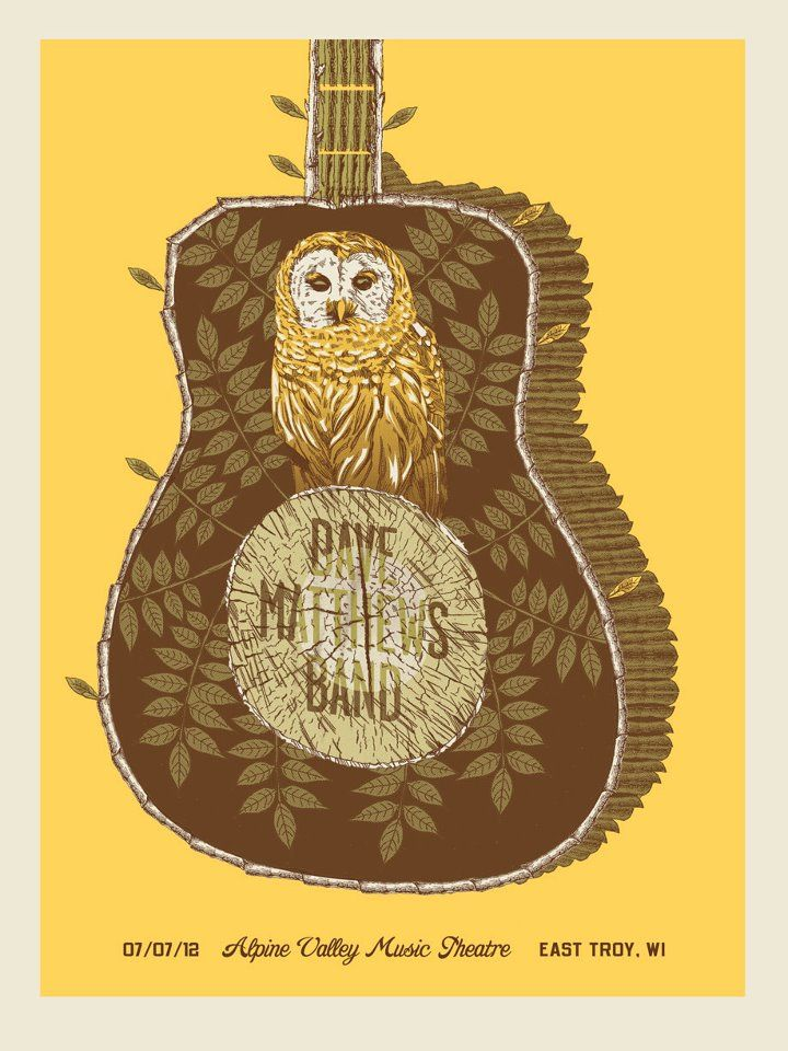 Dave Matthews Band Posters - Alpine Valley Music Theater 7-7-2012 - E. Troy, Wisconsin Night 2 LOVE THIS!!