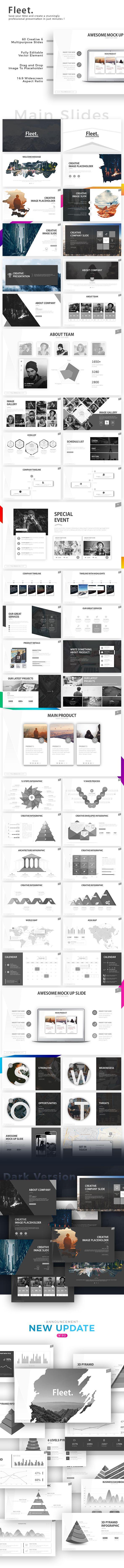 Fleet  Powerpoint Template  Element Chart Presentation