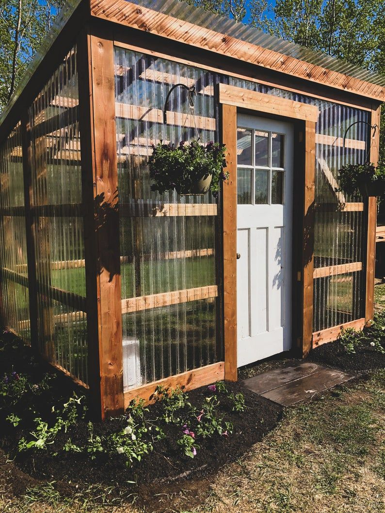 Diy 7x10 Lean To Greenhouse Building Guide Etsy In 2020 Backyard Greenhouse Lean To Greenhouse Backyard