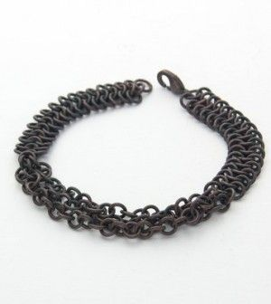 TUTORIAL Free Pattern: Copper Braided Chain Maille Bracelet | Wire ...