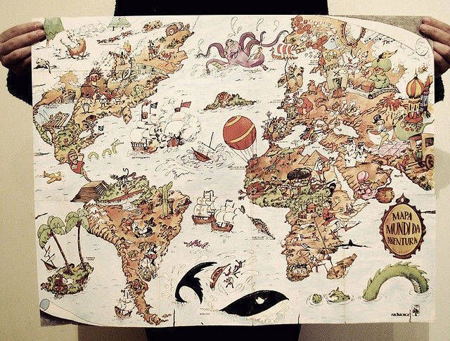 40 Creatively Recreated World Maps - new unique world map poster