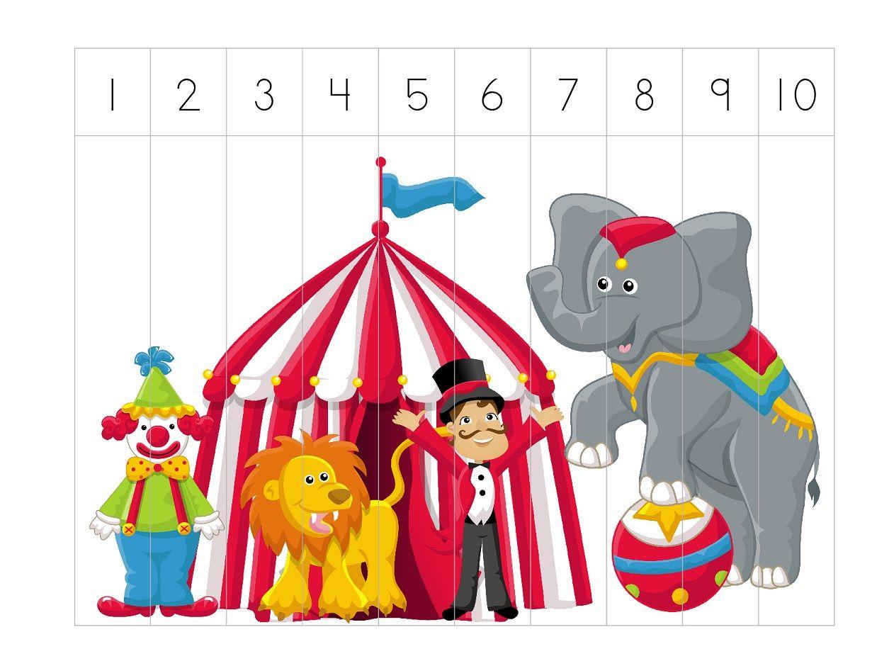 Puzzel Circustent Met Afbeeldingen
