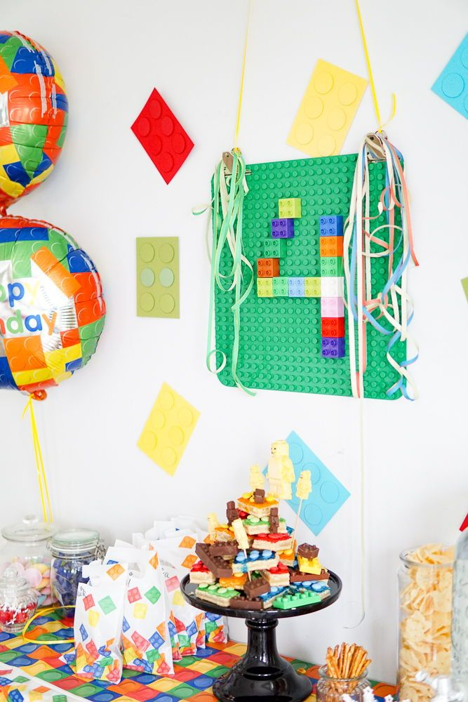 Ideen für die Lego Party - Deko-Hus
