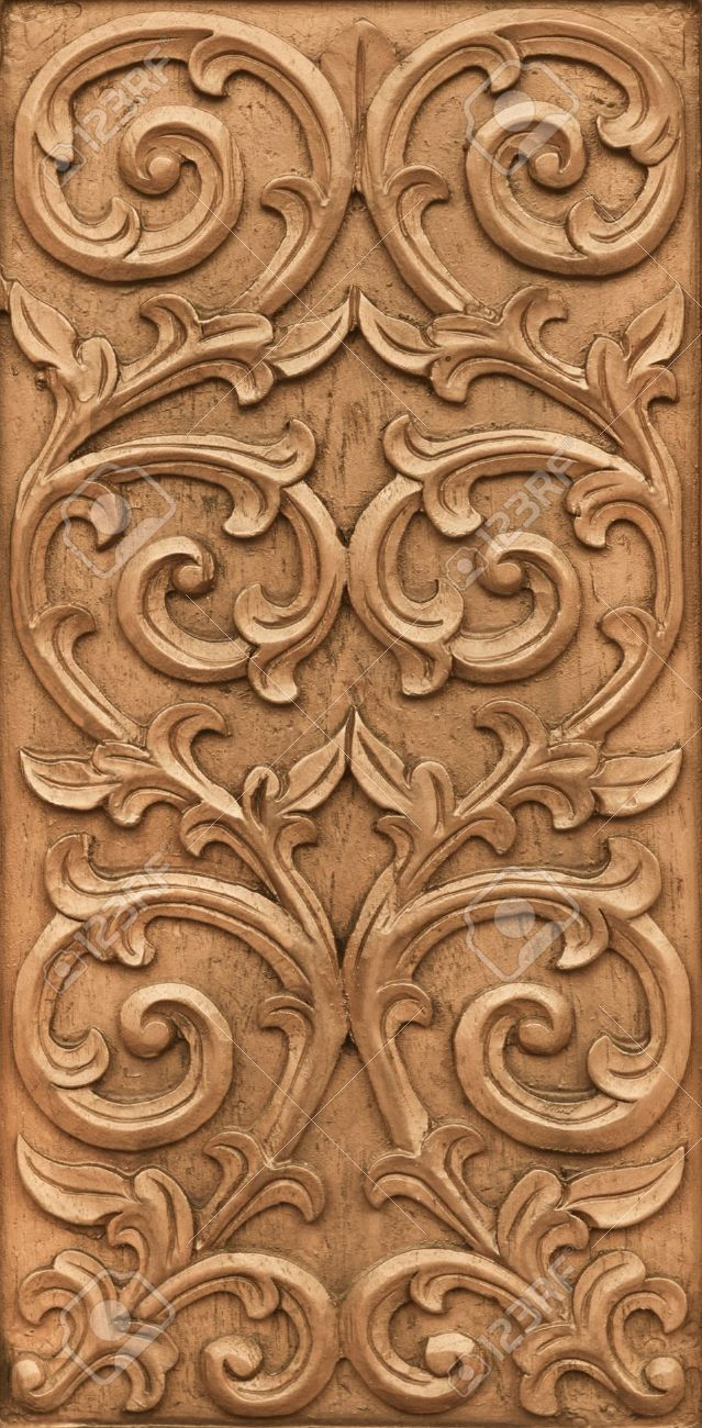 Pattern Of Flower Carved On Wood Background Stock Photo Picture And Royalty Free Image 18236150