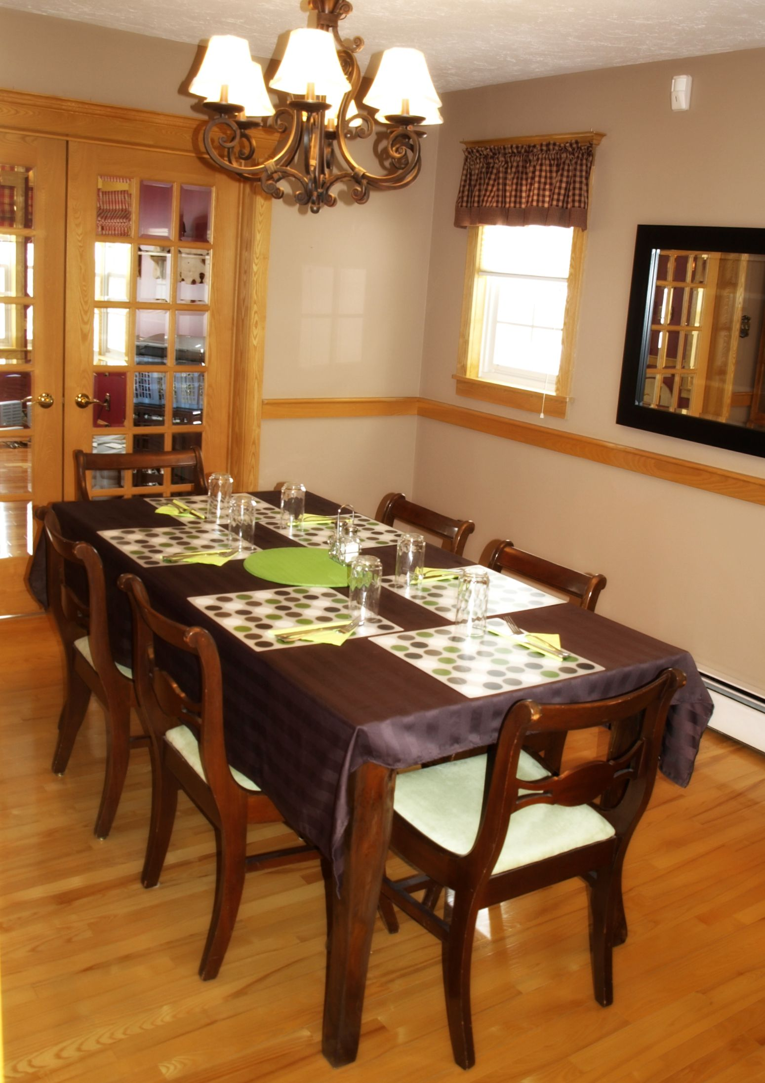 dining room  table from wicker emporium chairs