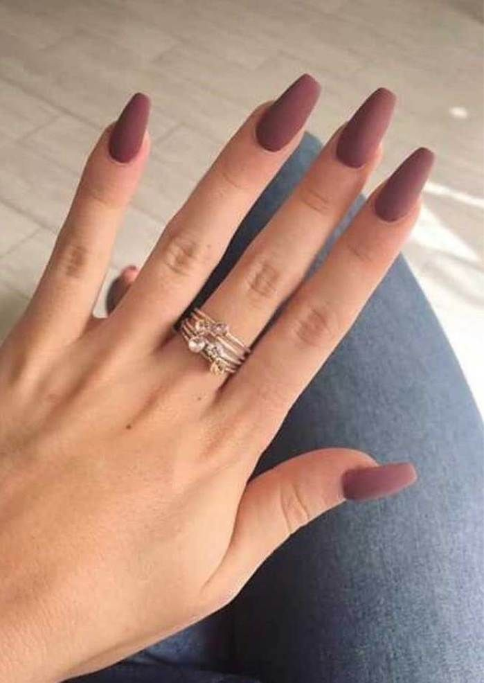 39 Trendy Fall Nails Art Designs Ideas To Look Autumnal Charming With Images Coffin Nails Matte Fall Nail Art Designs Coffin Nails Designs