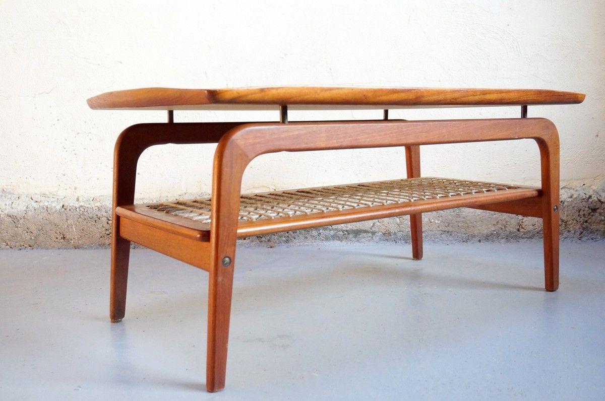 Vendu Table Basse Scandinave Danois Design Teck Vintage Annees