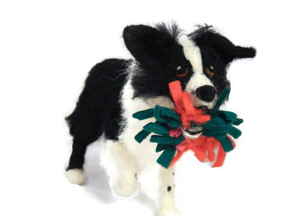 Custom - Needle felted Dog - example Needle Felted Border collie - Border collie art - Border collie sculpture
