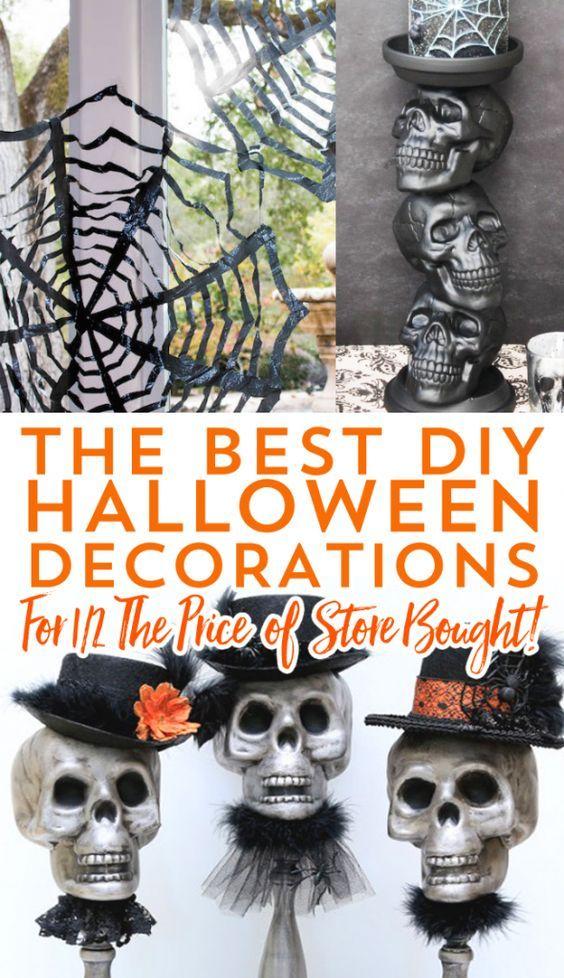 The Best DIY Halloween Decorations- save some money on Halloween