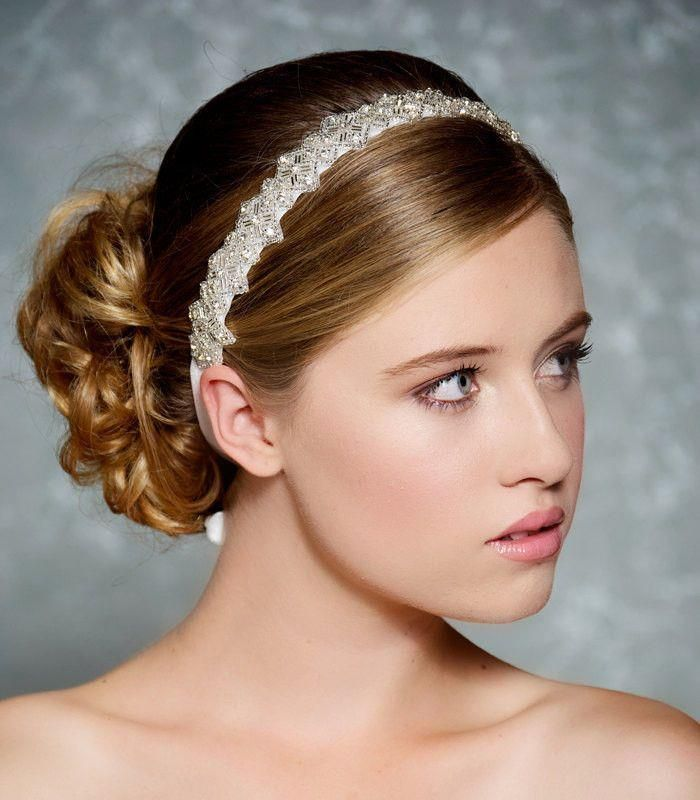 Hairstyle For Wedding Season: Pin On Headband For Reception???