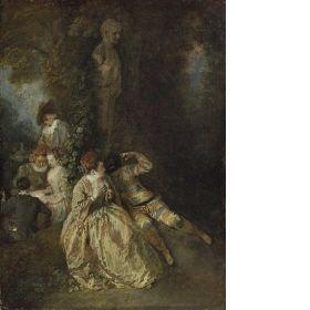 Antoine Watteau  Voulez-vous triompher des Belles?  c.1714-1717    Wallace Collection, London