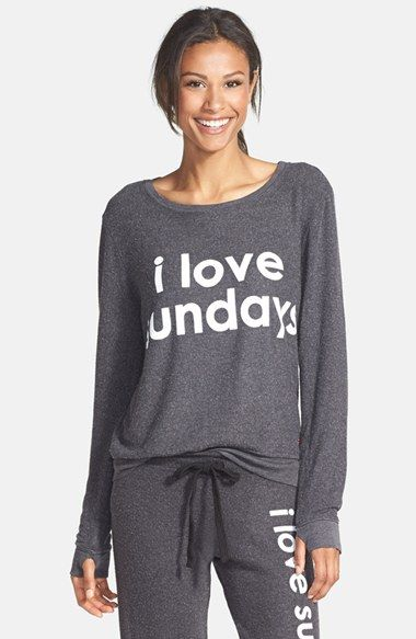 Peace Love World Comfy I Love Sundays Top Available At Nordstrom