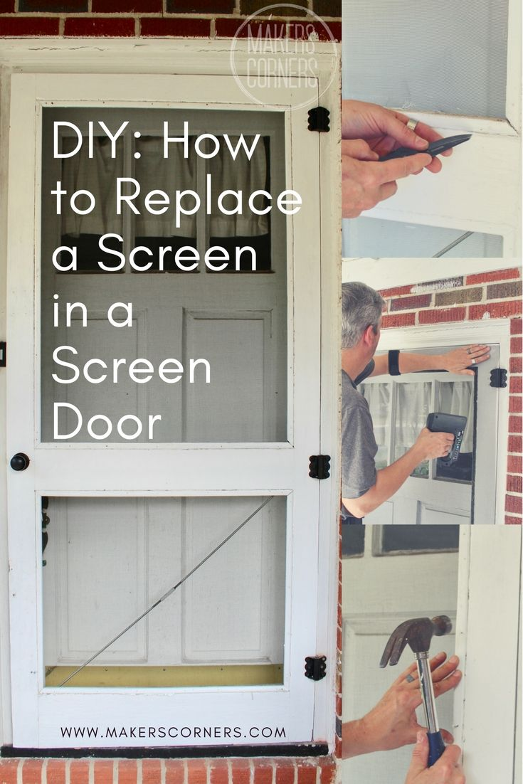 Diy Learn How To Replace A Screen In An Old Screen Door Using Only