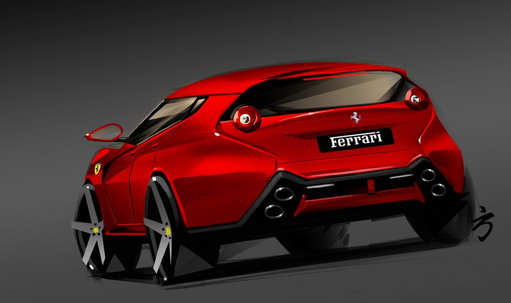 Ferrari Suv Rear By Nism088 With Images Ferrari Convertible