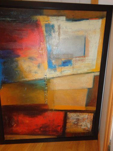 Ikea stretched Canvas textured abstract Painting by Patrizio Acrylic ...