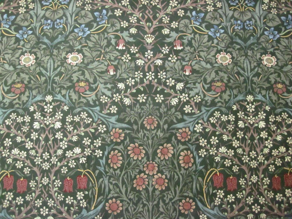 "WILLIAM MORRIS ""Blackthorn"" Curtain fabric design, Morris"