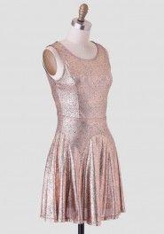 metalic dress | Ruche