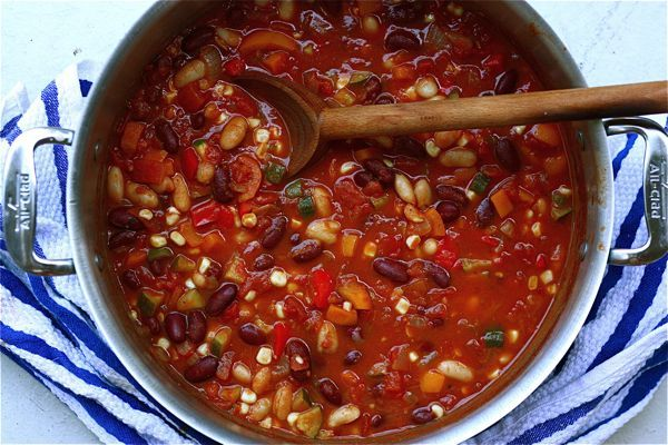 Spicy vegan chili is just the thing to warm up with on crisp fall nights.