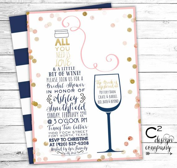 Printed version available*** This listing is for a 5x7 high - office bridal shower invitation wording