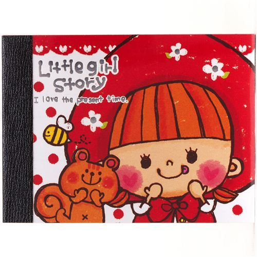 mini Note Pad with girl & squirrel