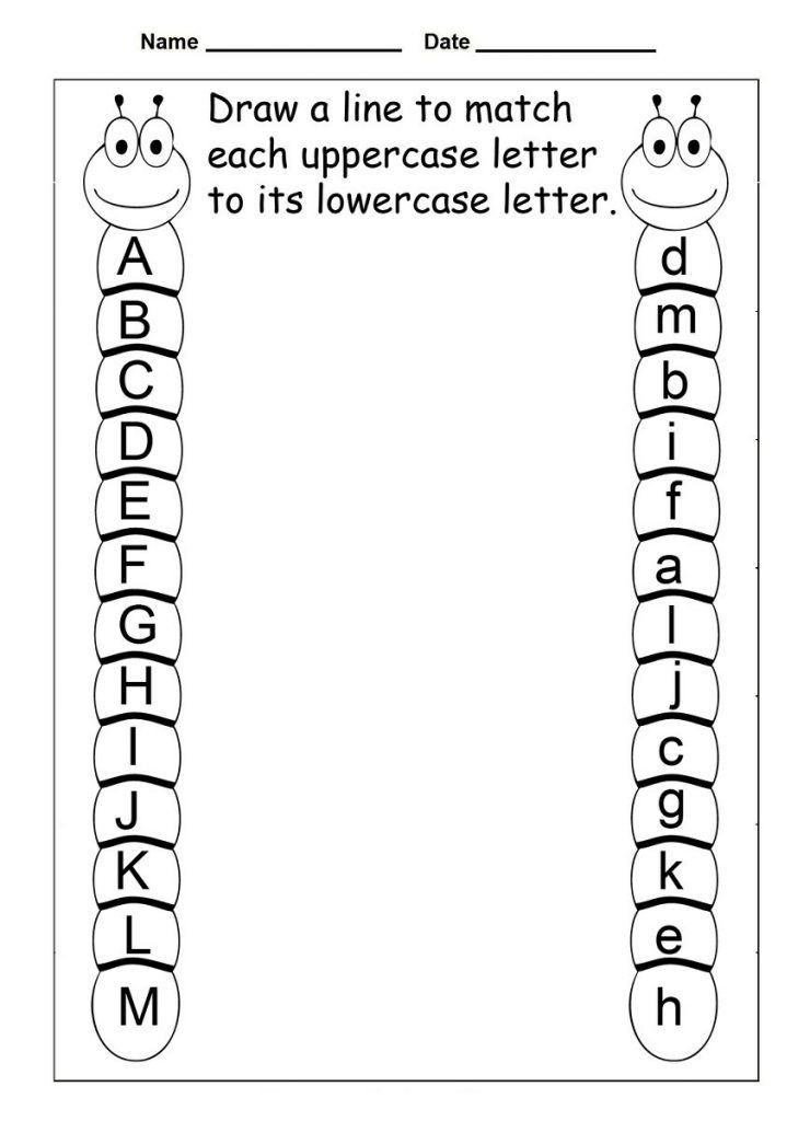 Alphabet Worksheets - Best Coloring Pages For Kids Letter Recognition  Worksheets, Free Preschool Worksheets, Learning Letters