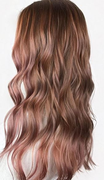 Hair Colors And Styles Rose Gold Mane Interest  Pinterest  Hair Coloring Gold Hair