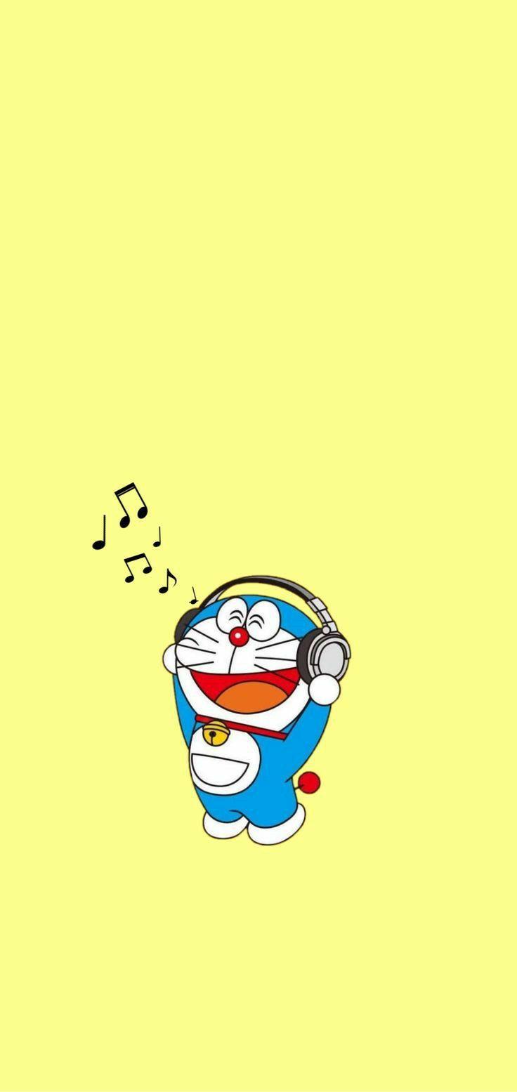 Doraemon yellow wallpaper