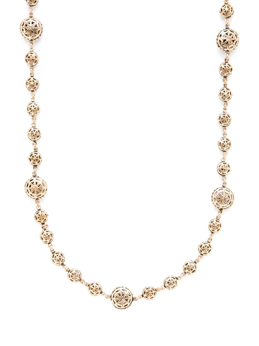 Long Disc Station Necklace by Azaara Vintage at Gilt