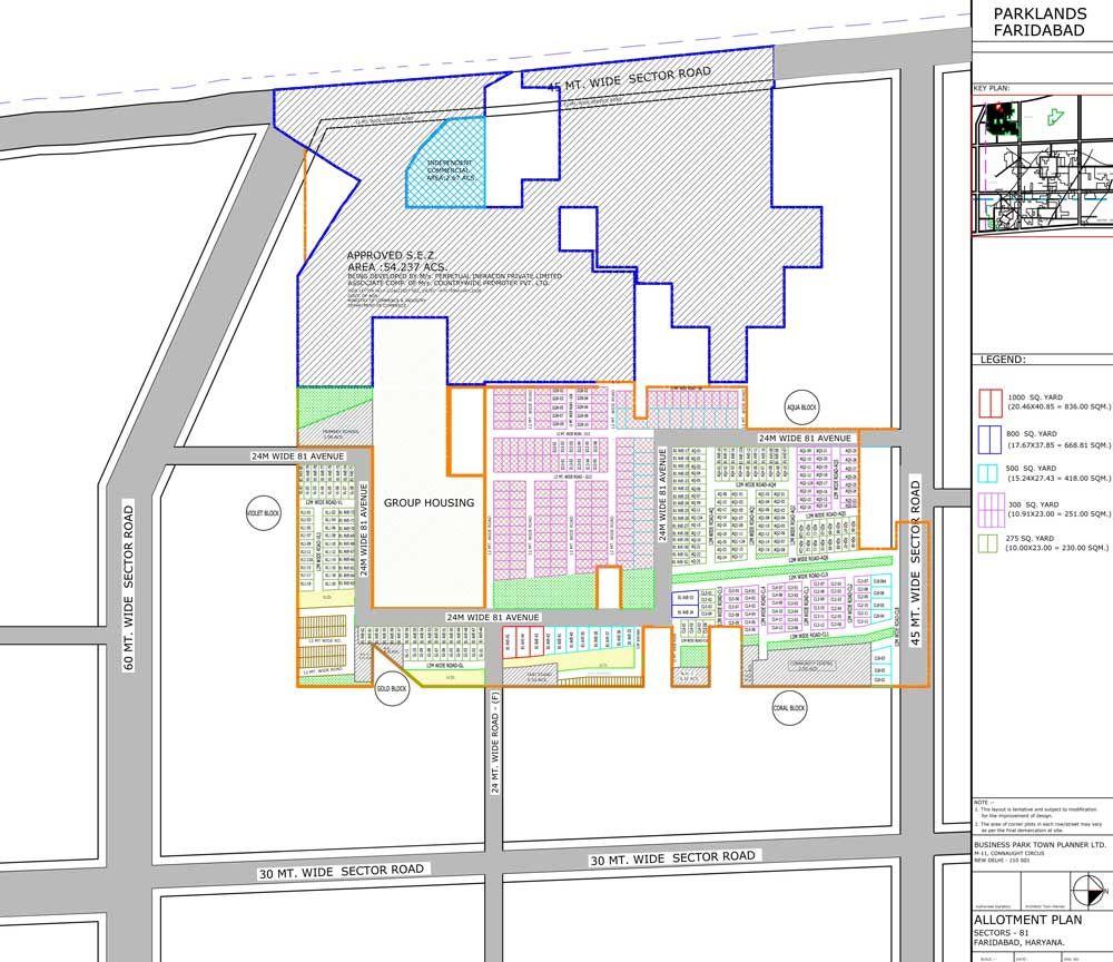 Site Paln Of Bptp Park 81 Faridabad Faridabad Floor Plans Park