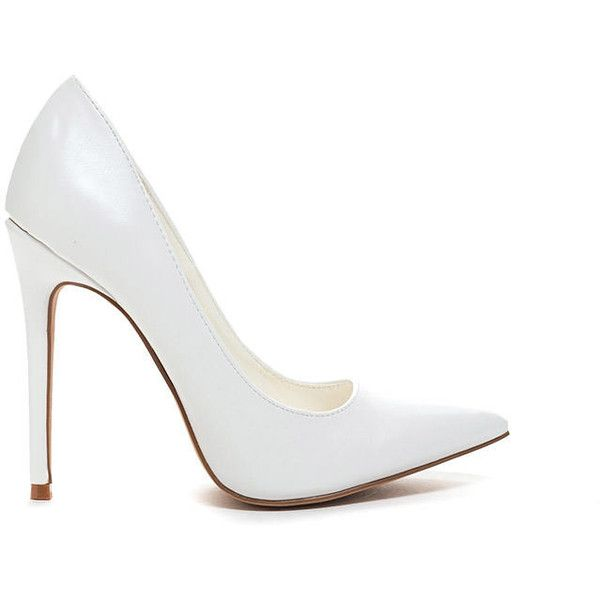 Point The Way Single-Sole Heels WHITE