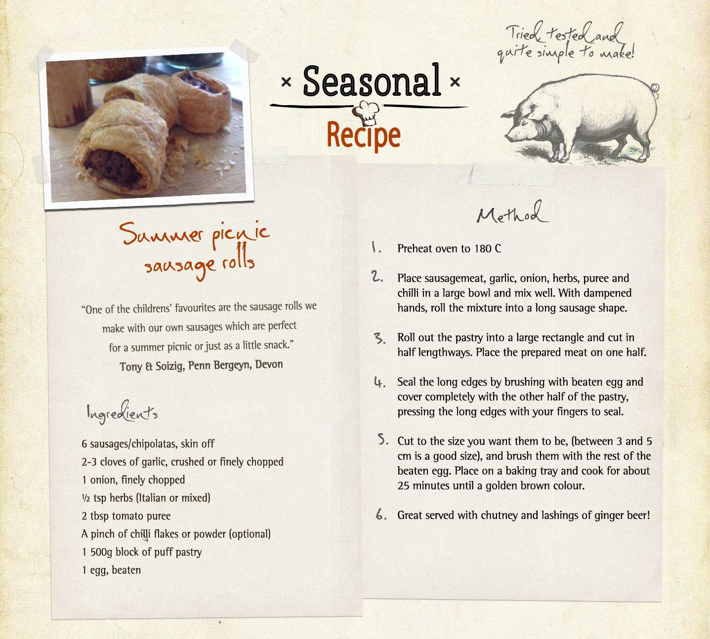 Summer Picnic Sausage Rolls recipe - courtesy of Tony & Soizig ...