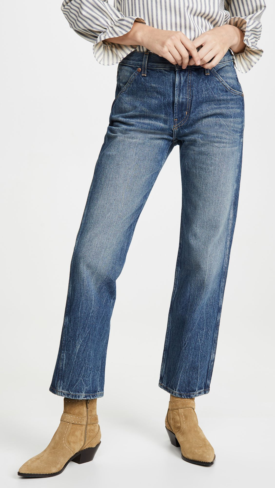 B Sides Georgia Mid High Straight Leg Jeans High Waisted Denim Straight Leg Jeans Straight Leg