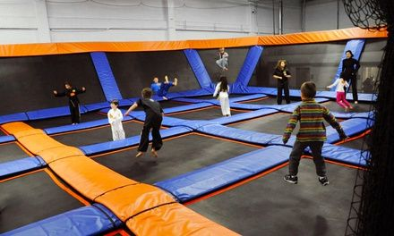 Trampoline Sessions At Skymania Trampolines In Kirkland Up To 35 Off Trampoline Park Indoor Fun Kids Birthday Party Venues