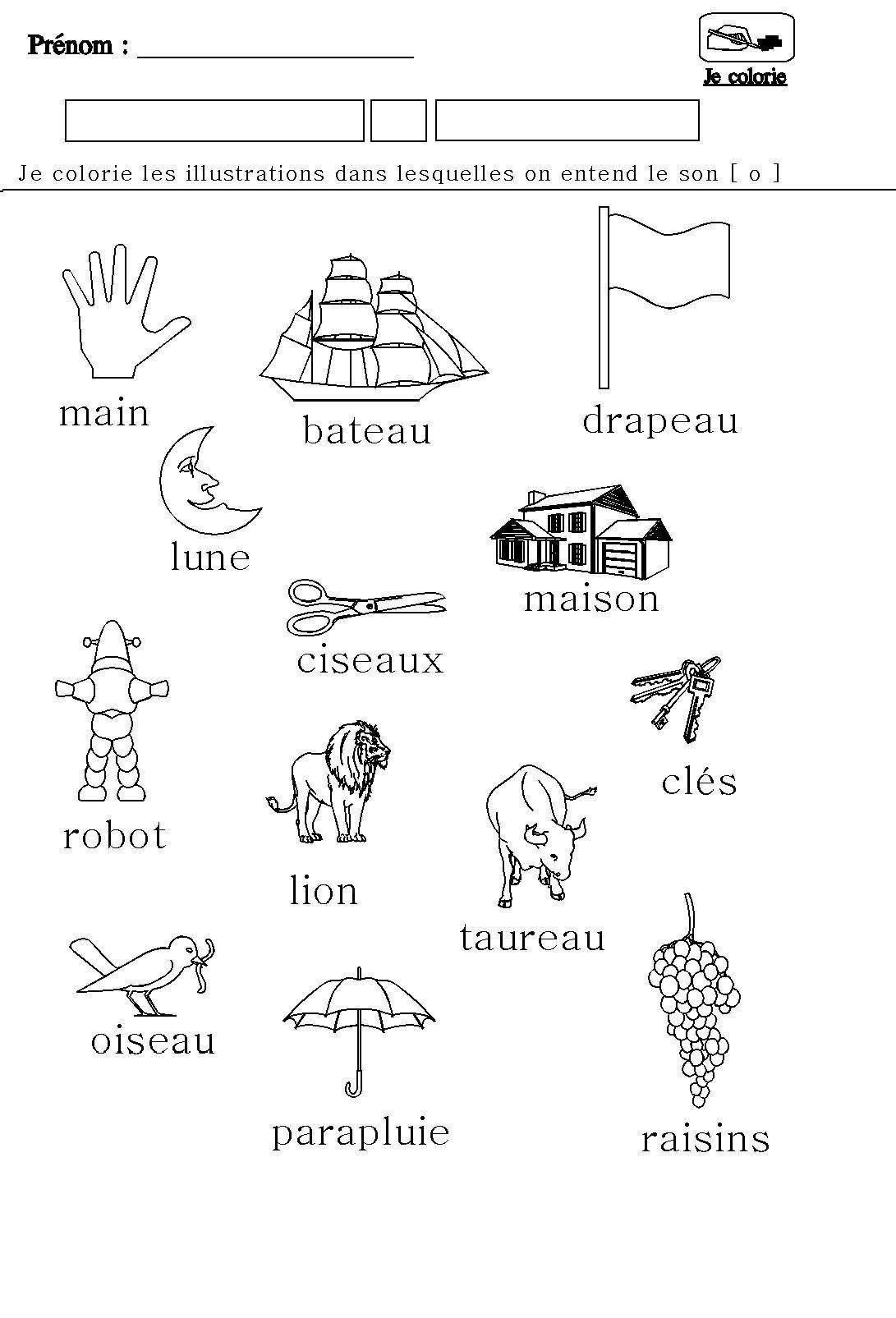 Phonologie Le Son O Pour Maternelle De Grande Section Et