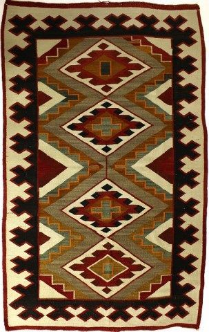 C 1920 S Navajo Rug Showing Nice Tight Weave Navajo