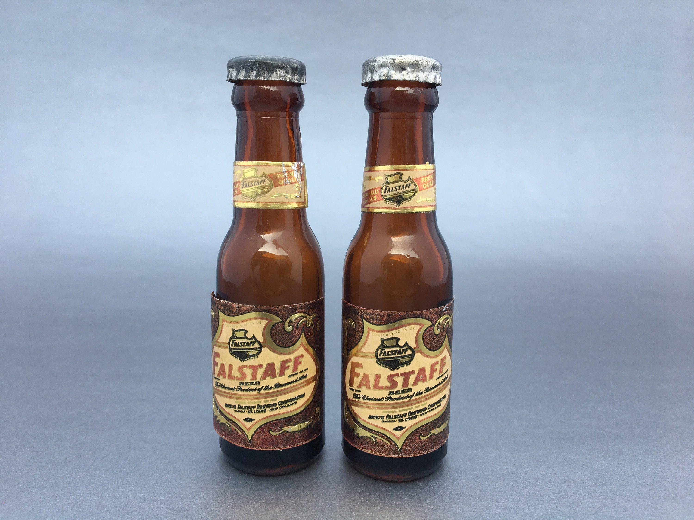 Vintage Beer Bottle Salt and Pepper Shaker Sets Falstaff+Carling Beer Black Label