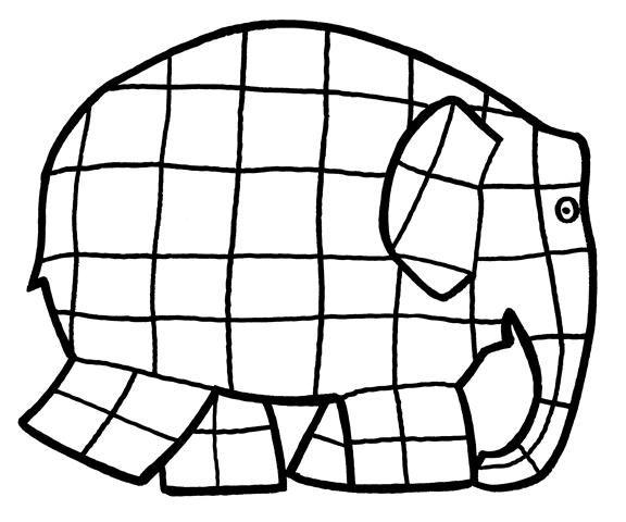Elmar Elefant Ausmalbild   Elmar elefant, Elefant ...