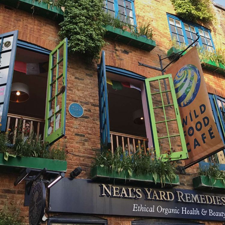 صور جميله للزقاق الشهير في لندن نيلز يارد يحوي كافيهات ومطاعم مميزه وجلسات جميله يزهو بالوانه الجميله الزقاق يقع ف Neals Yard Remedies Neals Yard Instagram