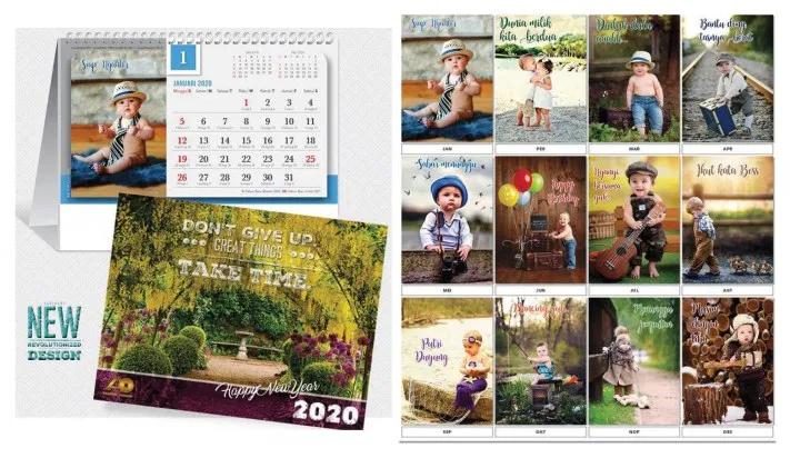 Kalender Meja 2020 Desain AO Blangko Classic Standar ...