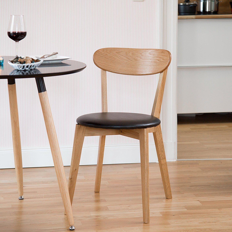 Esszimmerstuhl Modern relaxdays stuhl eiche esszimmerstuhl mit polster modern hbt 79